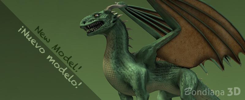 3d dragon model by bondiana
