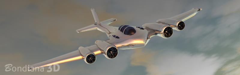 silver plane by bondiana 3d models