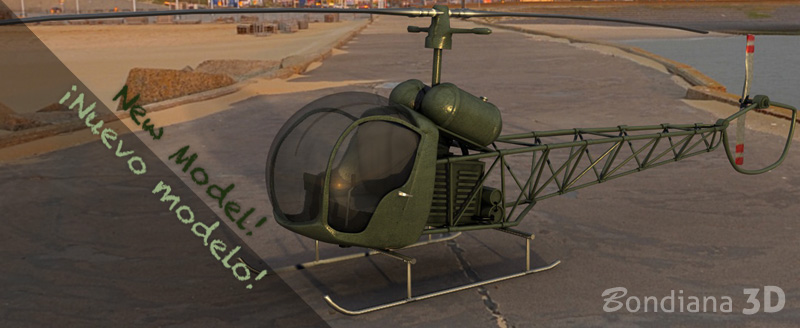 3d model helicopter by bondiana