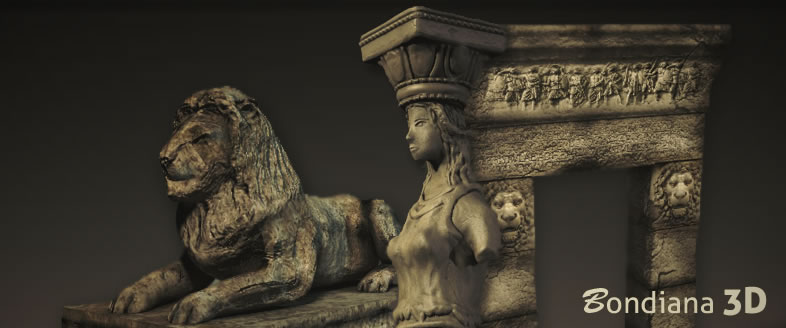 Various greek 3d models by Bondiana 3D Studio. Used in the new 3d render Indoor ambience.