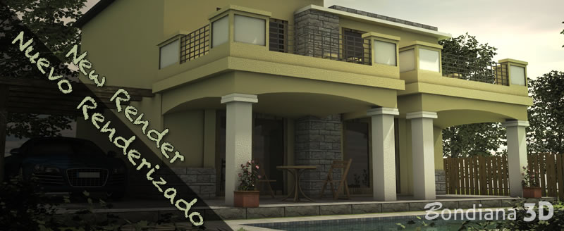 Architecture 3D Render by Bondiana 3D Studio.