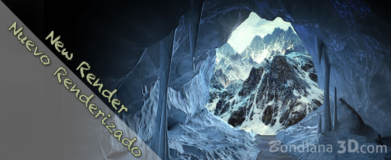 3d model ice cave by bondiana3d.com