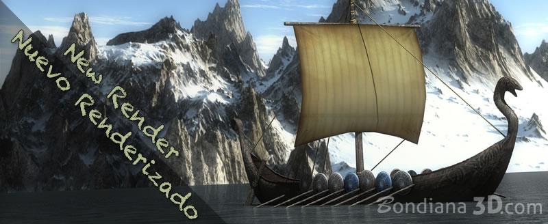 3d render of 3d model viking boar