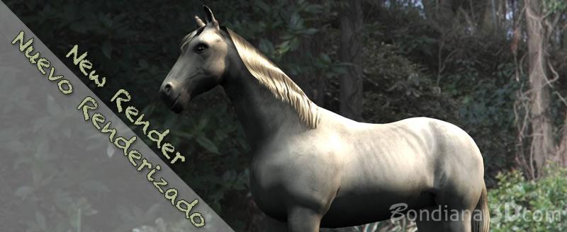 white horse by bondiana3d.com