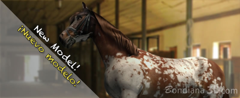 the pinto horse 3d model by bondiana3d
