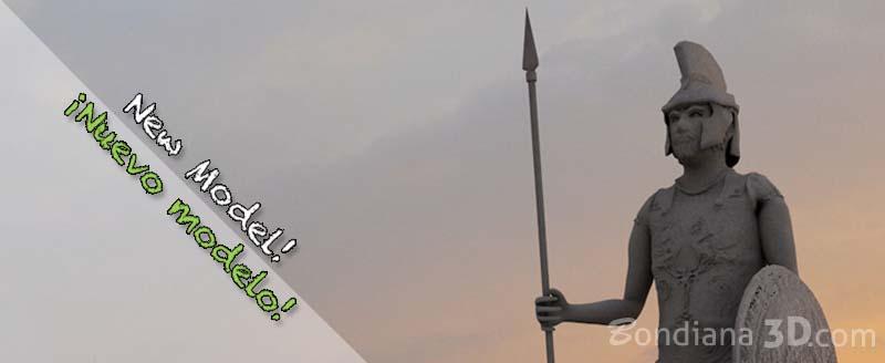 New 3d Model Available! Ancient Roman soldier by bondiana3d.com