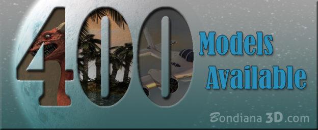 more than 400 models uploaded by bondiana3d.com