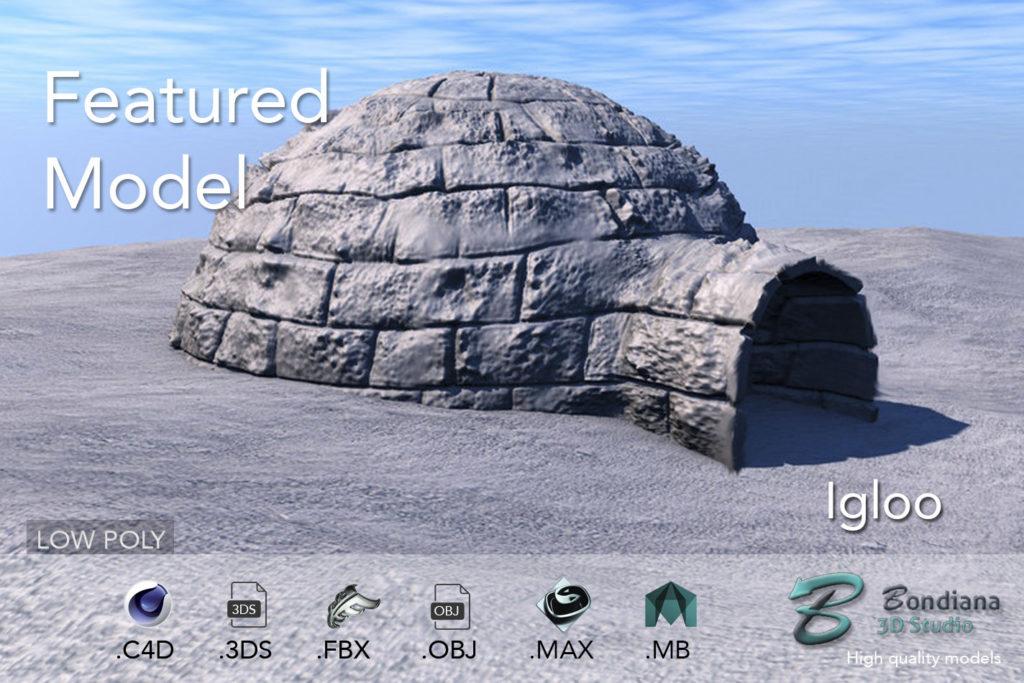 3d model igloo by bondiana3d