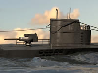 U-boat Submarine 3d model
